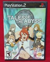 Tales of The Abyss - PS2 PlayStation 2 - 1 Owner Near Mint Disc Bandai Namco