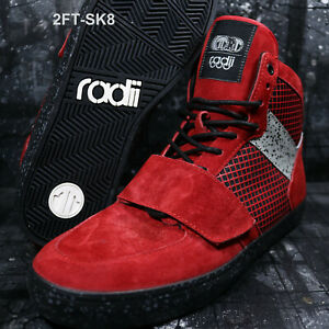 RADII STANDARD ISSUE SE RED CEMENT SKATE SHOES STRAIGHT JACKET