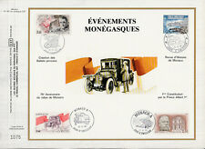 d feuillet CEF Monaco  4 timbres  événements   1986
