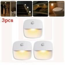 3x Set LED Nachtlicht mit-PIR Bewegungsmelder Batterien Nachtlampe Treppenlicht