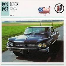 1959-1963 BUICK INVICTA Classic Car Photograph / Information Maxi Card