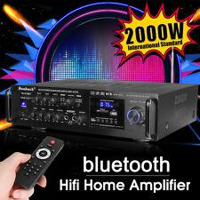 2000W 110V 2Ch Digital Amplifier Hifi bluetooth Amp Stereo Audio Fm Mic Car