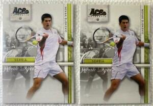 """TWO (2) NOVAK DJOKOVIC ROOKIE CARDS-2007 ACE AUTHENTIC """"STRAIGHT SETS"""" CARD #16"""