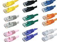 Cat5E Stranded UTP LAN Internet Network Ethernet (Cat-5) Cable Cord RJ45 1-25ft