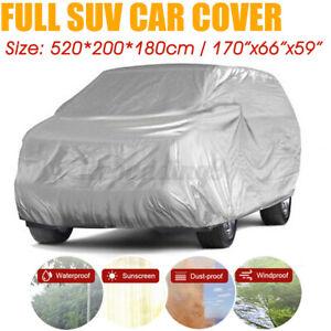 5.2Mx2x1.8 Universal Full Car SUV Cover Waterproof UV Snow Dust Rain Resistant