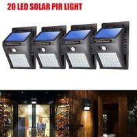 Solaire Puissance LED Lumière PIR Capteur de mouvement Jardin Applique Nuit Lamp