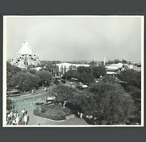 Disneyland Press Publicity Photo TENCENNIAL TOMORROWLAND Aerial View circa 1965