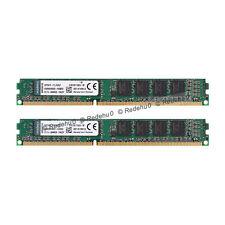 Para Kingston 8GB 2x4GB DDR3 1600 Mhz PC3-12800U 240Pin DIMM SDRAM KVR16N11S8/4