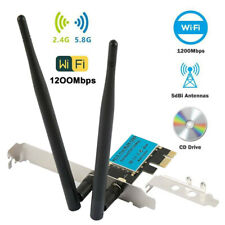 More details for wireless 1200mbps pci-e wifi card 2.4/5ghz dual band network adapter desktop pc