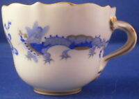 Antique 20thC Meissen Porcelain Blue Dragon Demitasse Cup Porzellan Tasse German