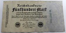 1922 German Funfhundert (500) Mark Bank Note  VERY GOOD -FINE  BERLIN JULY 1922