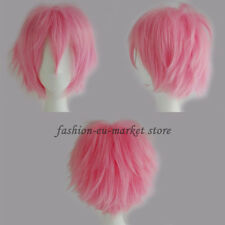 Unisex Anime Fashion Short Wig Cosplay Full Wigs Fancy Dress Heat Resistant Hair