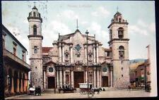 CUBA ~ 1909 HAVANA ~ Havana Cathedral ~ Open Air Taxi ~ Horse Taxi