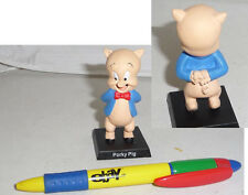RARE METAL Figure PORKY PIG Looney Tunes ITALIAN Collection MINT NEW