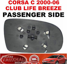 VAUXHALL CORSA C MANUAL WING MIRROR GLASS PASSENGER NEAR SIDE LIFE CLUB BREEZE