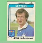 1980 NEWTOWN JETS SCANLENS RUGBY LEAGUE CARD #111 BRIAN HETHERINGTON