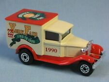 Matchbox MB-38 Ford Model A Van USA York Fair 1990 Boxed Cream Body Red Roof