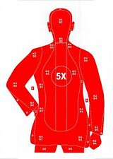 Red B-21 Style Pistol & Rifle Human Silhouette Shooting Targets - 19x25 -31 Qty.