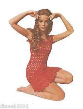 Lacy Dress Womans Crochet Pattern  Sizes 6-14 Very Unique