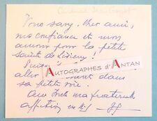 Jean GUYOT Cardinal Archevêque TOULOUSE Bordeaux Lisieux Carte autographe cdv