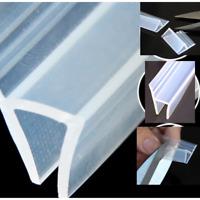 2M Bath Shower Screen Door Window Seal Strip Gap Curved Flat Rubber Clear 6-12MM