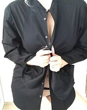 PAUL SMITH MENS SHIRT TAILORED BLACK PURE COTTON LING SLEEVE WORK PARTY SZ L