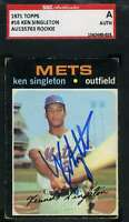 Ken Singleton Sgc Coa Autograph 1971 Topps Rookie Authentic Hand Signed