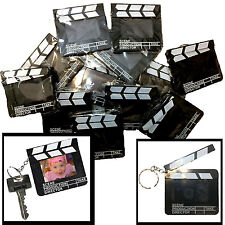 DZ-Mini Directors CLAPBOARD PHOTO PICTURE FRAME KEY CHAINS Party Favors-12pc LOT
