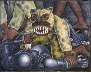 Indian Warrior   by Diego Rivera Giclee Canvas Print Repro