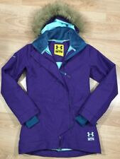 UNDER ARMOUR RECCO Coat MTN Parka Womens Size XS Purple And Green