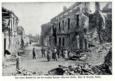 Der untere Stadtteil des von den deutschen Truppen erstürmten Gorlice 1.WK. 1915