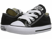 NEW INFANT TODDLER CONVERSE ALL STAR OX CHUCK TAYLOR BLACK WHITE 7J235 SO CUTE
