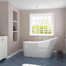 Bathroom Freestanding Bath Tub Sanitary While Acrylic with POP-UP Waste&Overflow