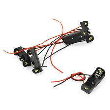 "5pcs 4.3"" Wire Leads Black Battery Storage Slot Holder 1 x 12V 23A/27A N3"