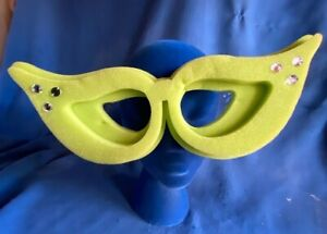 Rare 2014 Chris March Target Exclusive Big Fun Foam Cat Eye Glasses Rhinestone
