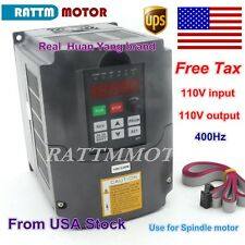 【US Stock】 2.2KW 110V 3HP VFD Inverter Variable Frequency Drive 20A VSD HY Brand