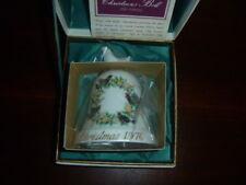 Noritake Christmas Bell Ornament Bone China NIB Four Colly Birds 1976 Japan