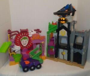 Imaginext Batman Wayne Manor Joker Laff Factory Playset with Batwing & joker car