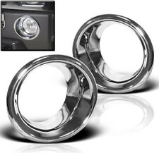 06-10 HUMMER H3 BUMPER DRIVING FOG LIGHT LAMP TRIMS BEZEL COVER RING CHROME PAIR