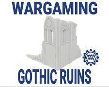 28mm Gothic ruins miniature wargaming terrain for Warhammer