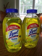 2 Bottles LYSOL BRAND CONCENTRATE MULTI-SURFACE CLEANER Makes 5 Gallons Each