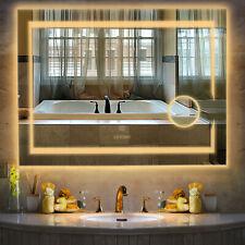 80cmx60cm Bathroom LED Makeup Shaving Front Backlit Mirror Changeable Lightness