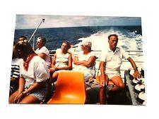 Vintage 80s Photo Vacation Australia Adventure Safari Tour Boat Man Woman Stripe