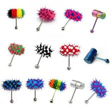 Koosh Tickler Vibrating Vibrator Adult Toy Tongue Ring Piercing bar Stud Battery