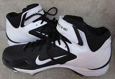 Nike Mens Metal Baseball Cleats Black Air Huarache 2KFRESH Pro Model Size 13
