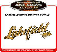 Lakefield Boats Mohawk Reproduction Decals , One pair
