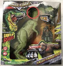 Jurassic Clash Mega Monster TYrannosaurus Rex GodzilLa lights And Sound Toy