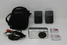 Sony Cyber-shot DSC-H70 16.1MP Digital Camera (Silver) + Case, 2 Batt/Chargers