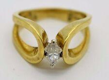 18k Yellow Gold 0.20Ct Diamond Ring (Sizable)