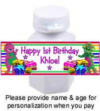 30 Barney And Friends Birthday Party Shower Stickers For Mini Bubbles Baby Bop